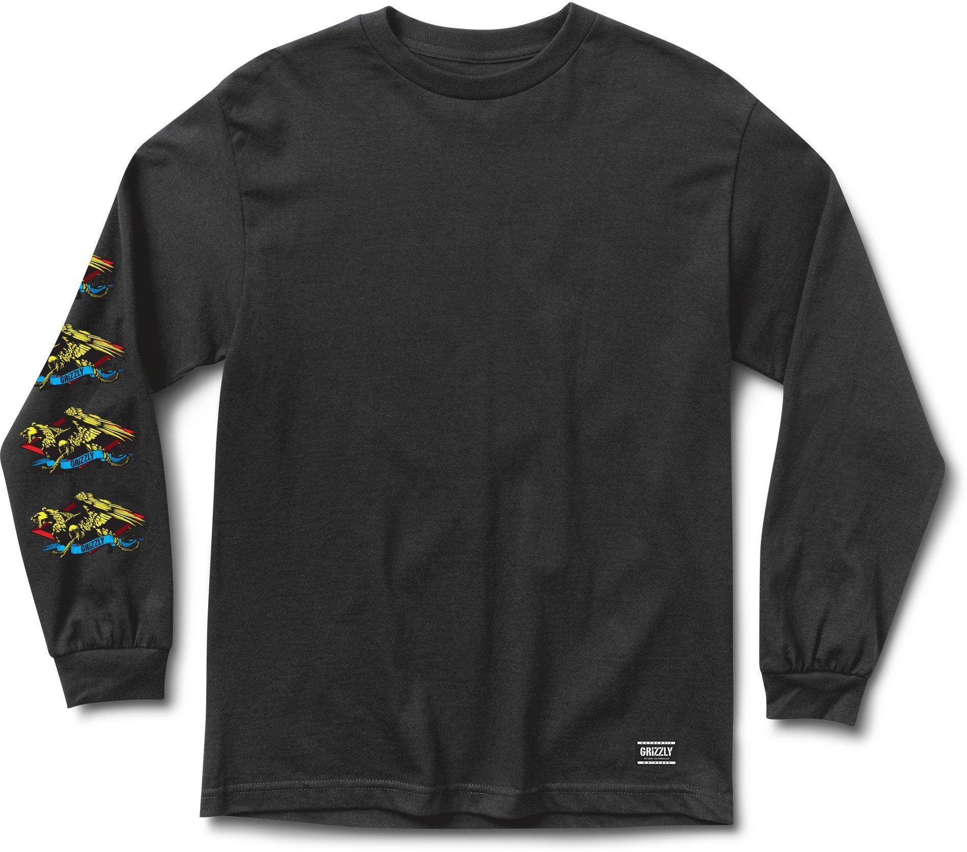 t-shirt męski GRIZZLY BEAST MASTER LS TEE Black