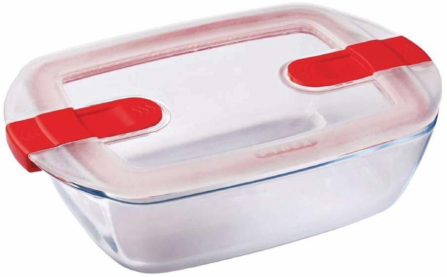 Pyrex 216PH00 Cook&Heat Cook & Heat prostokątny szklany pojemnik na żywność z pokrywką