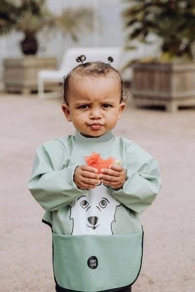 Baby Livia Baby Livia - Baby Livia Śliniak z Rękawkami Mint Miś 303 - 10