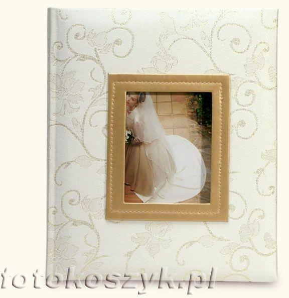 Album ślubny na zdjęcia wklejane Venus złoty (tradycyjny 60 czarnych stron)
