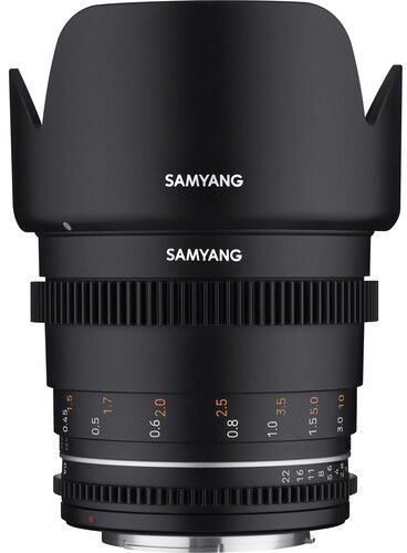 Samyang 50mm T1.5 VDSLR MK2 - obiektyw stałoogniskowy, Canon EF Samyang 50mm T1.5 VDSLR MK2, Canon EF