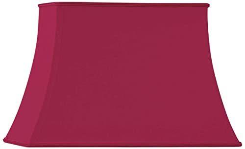 Klosz lampy w kształcie pagody, prostokątny, 40 x 28/25 x 18/27 cm, burgundowa czerwień