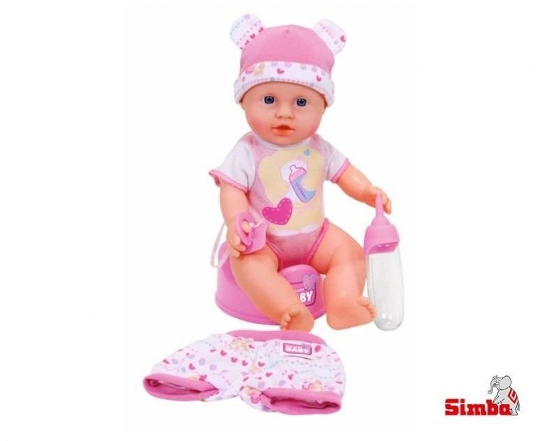 Simba LALKA BORN BABY BOBAS +2 UBRANKA Siusia Pije