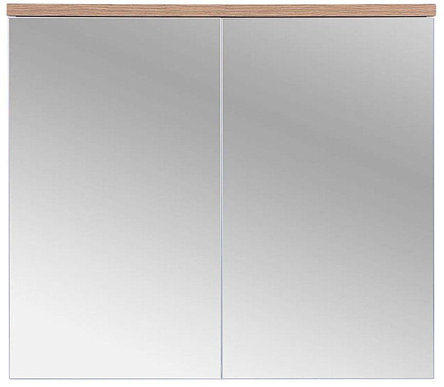 Szafka łazienkowa z lustrem Marsylia 6X 80 cm - Biały