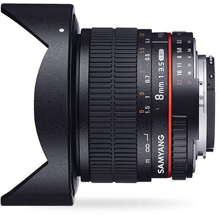 Samyang 8mm F3.5 UMC Fish-Eye CS II - obiektyw stałoogniskowy, Canon EF Samyang 8mm F3.5 UMC Fish-Eye CS II, Canon EF