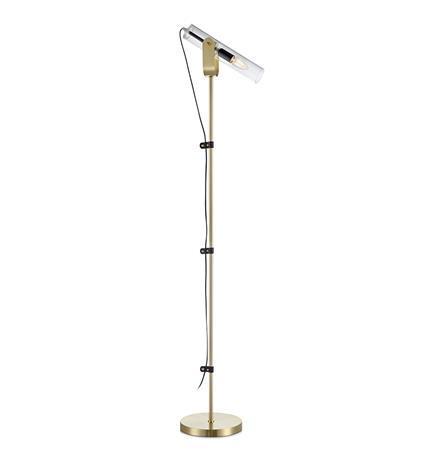 Lampa na podłogę WINSTON floor bru.brass/clear glass 106842 - Markslojd  Mega rabat przez tel 533810034  Zapytaj o kupon- Zamów