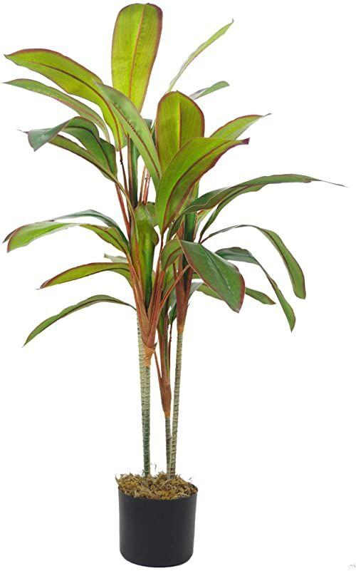 Leaf Tropikalna sztuczna palma, mieszane materiały, Dracaena duży, 100 cm
