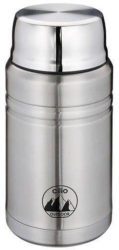 Cilio - monte - termos obiadowy ze składaną łyżką - 750 ml - stal szczotkowana