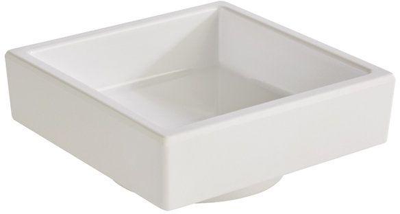 Pojemnik kwadratowy z melaminy biały różne wymiary