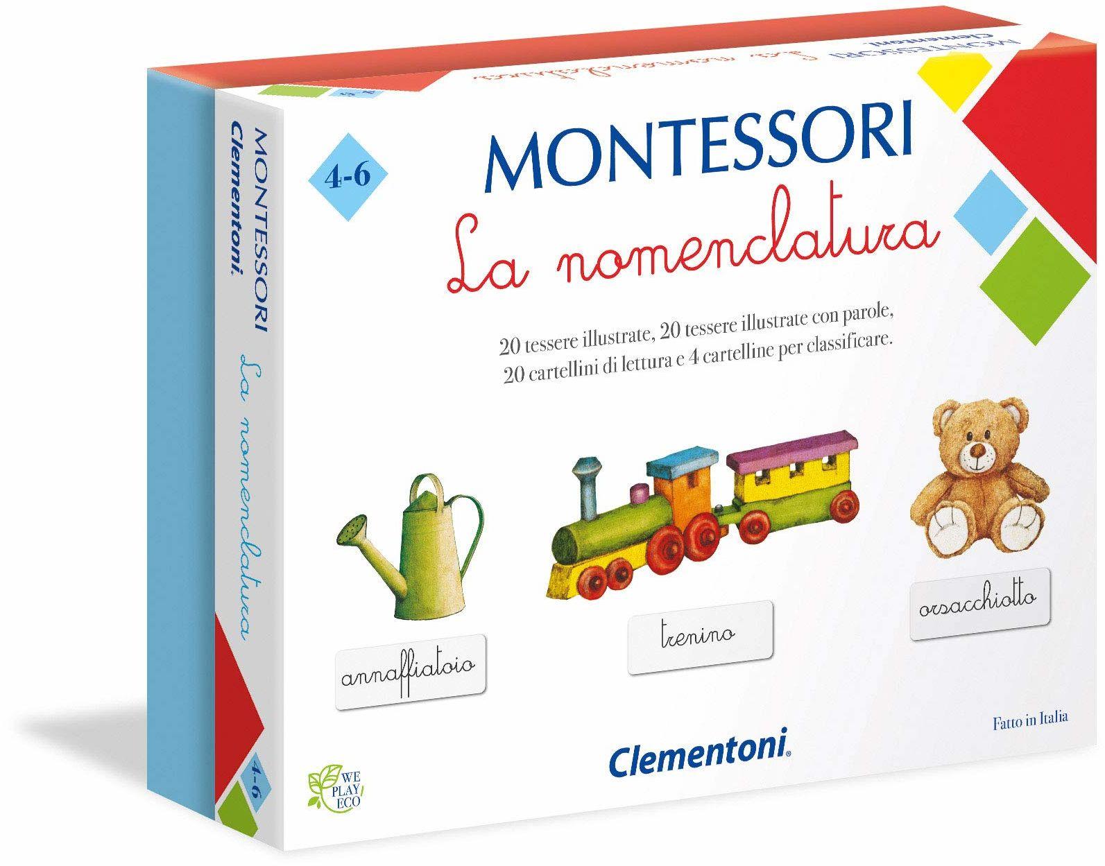 Clementoni - Montessori-La Nomenklatura gra edukacyjna, wielokolorowa, 16101