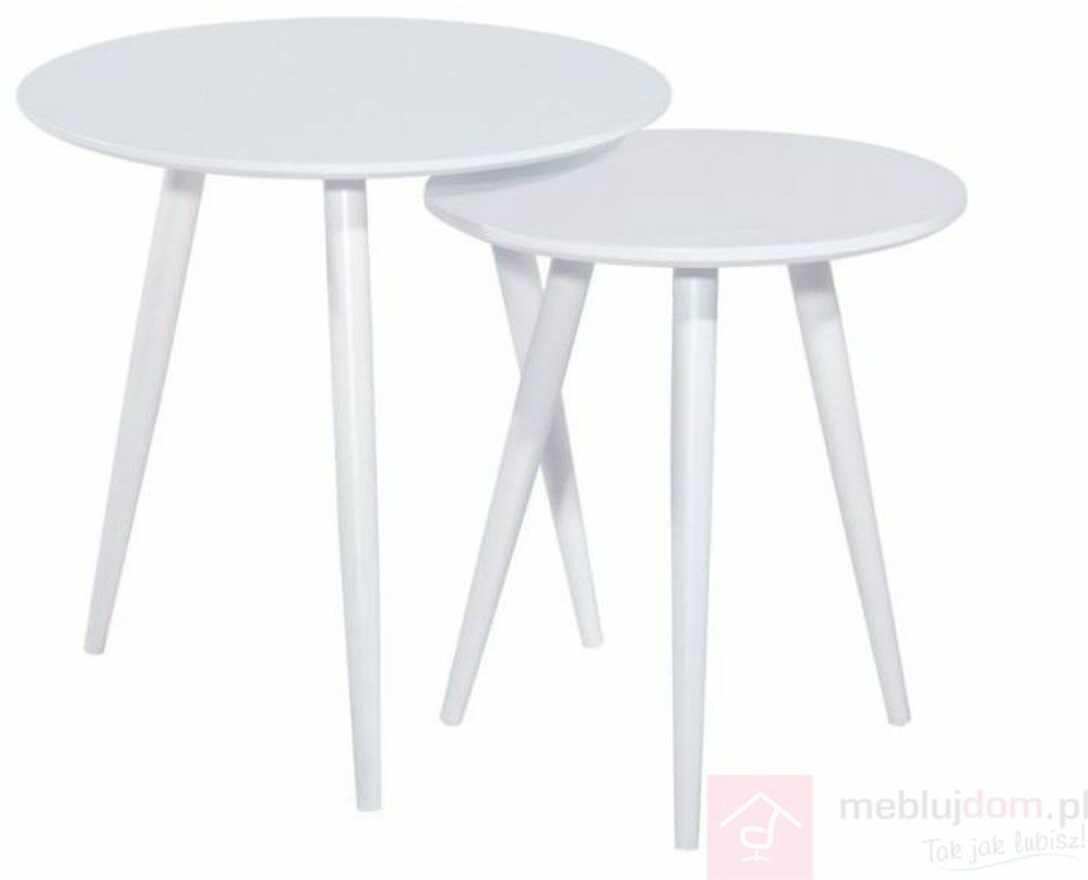 KUPON 10% NA STRONIE  Zestaw stolików CLEO Signal Biały
