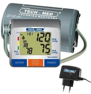 Ciśnieniomierz TECH-MED TMA-500 PRO z zasilaczem WYBRANY PIĄTY PRODUKT 99% TANIEJ DARMOWY TRANSPORT!