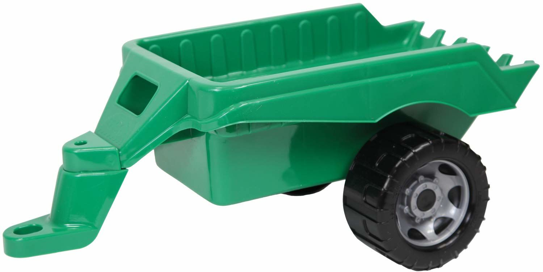 Lena 02124 Giga Trucks zielony, mocna przyczepa do zabawek, przyczepka do pojazdów zabawkowych ok. 48 cm długości, przyczepka do dużych pojazdów, luzem