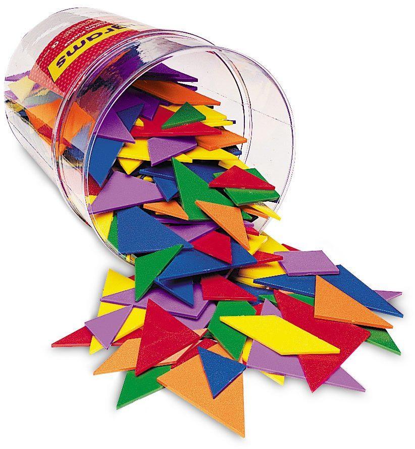 Learning Resources Sześciokolorowe tangramy