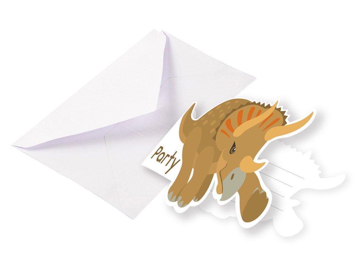 Zaproszenia urodzinowe Dinozaury - 8 szt.