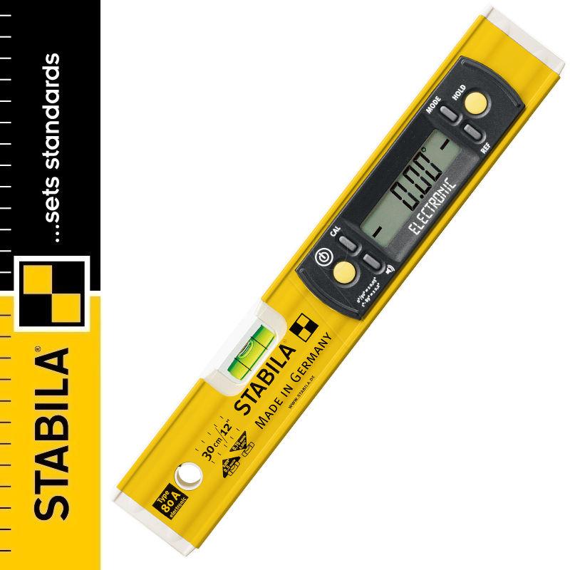 Poziomica elektroniczna STABILA TYP 80 A Electronic / 30cm, 1 libella