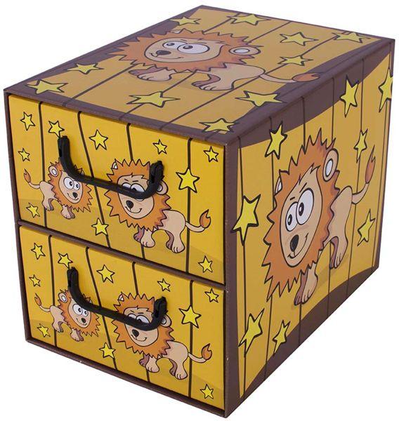 Pudełko kartonowe 2 szuflady pionowe SAWANNA LEW