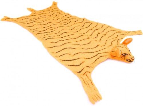 Mata wełniana, dywanik Tygrys