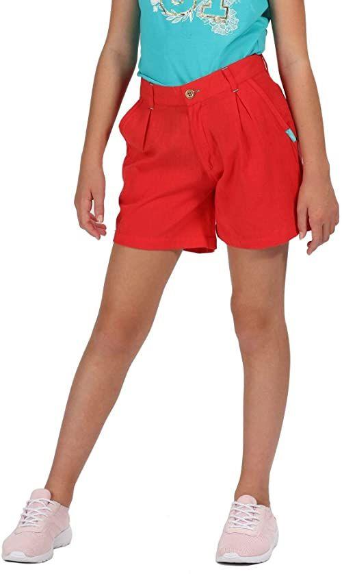 Regatta Dziecięca Damita Coolweave Bawełna Vintage Look Szorty Coral Blush 3-4 Years