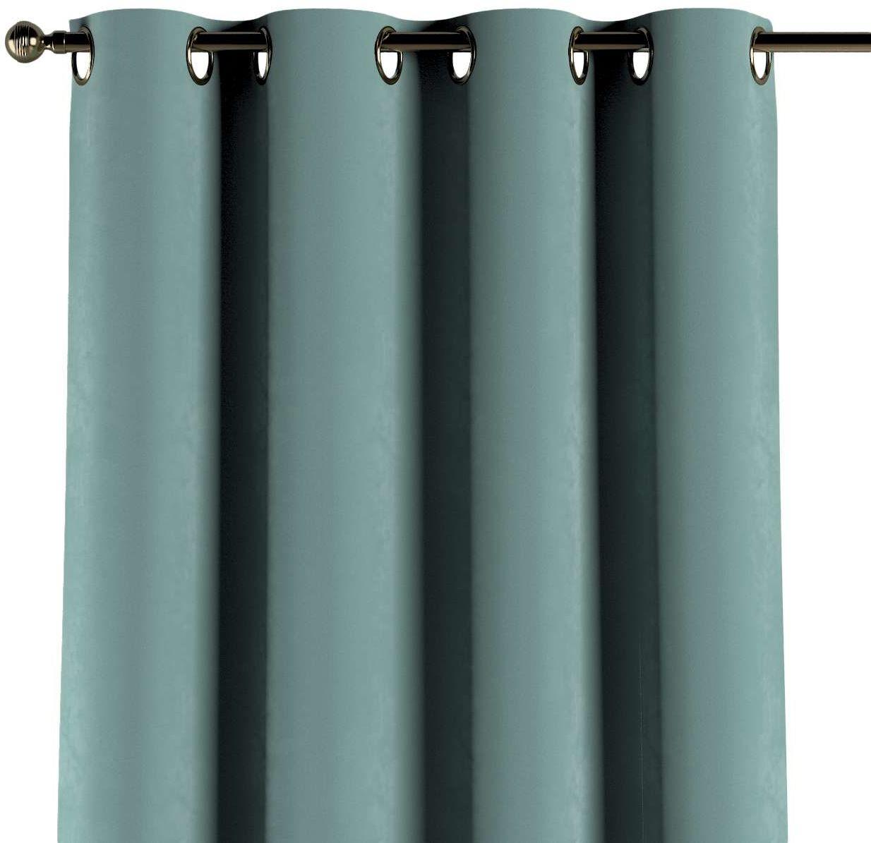 Zasłona na kółkach 1 szt., szara mięta, 1szt 130  260 cm, Velvet