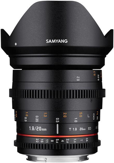 Samyang 20mm T1.9 ED AS UMC - obiektyw stałoogniskowy, Nikon F Samyang 20mm T1.9 ED AS UMC, Nikon F