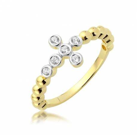 Złoty pierścionek model P1937