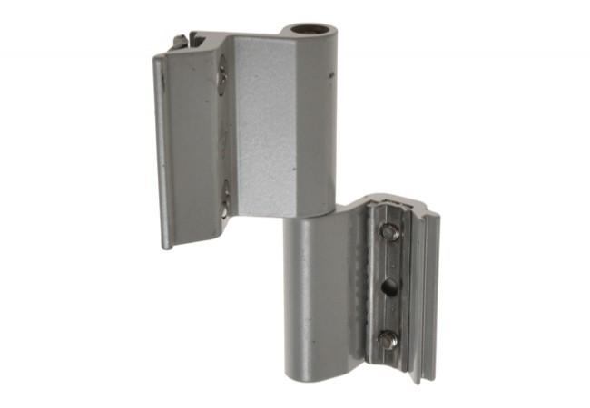 Zawias okienny 2-częściowy do systemu z eurorowkiem srebrny