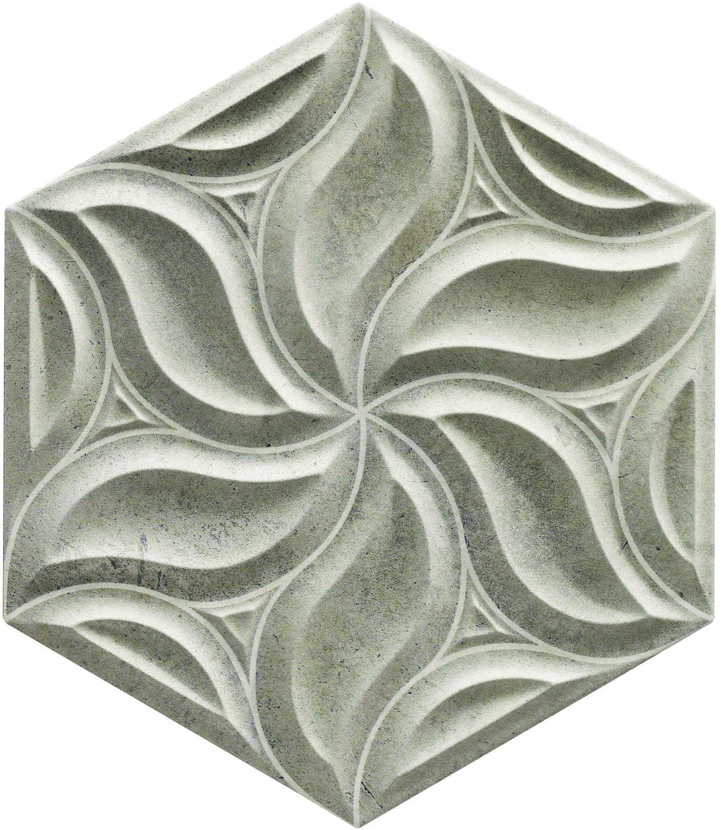 Habitat Ivy Concrete 28,5x33 płytki ścienne heksagonalne