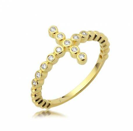 Złoty pierścionek model P1938