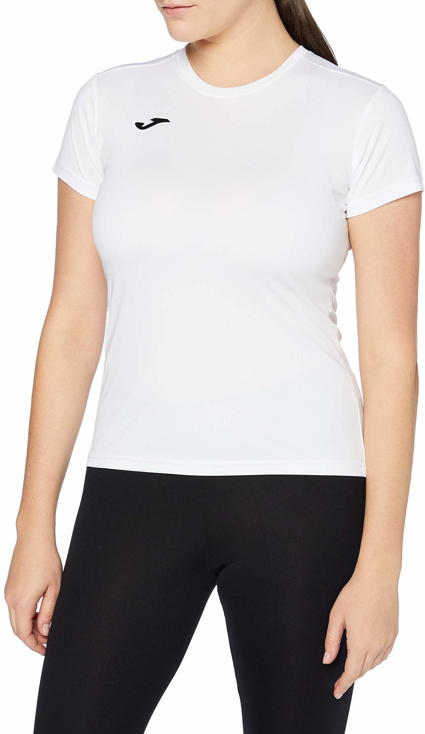 Joma damskie 900248.200 Joma 900248.200 damskie t-shirty - białe/białe, średnie Biały/biały M
