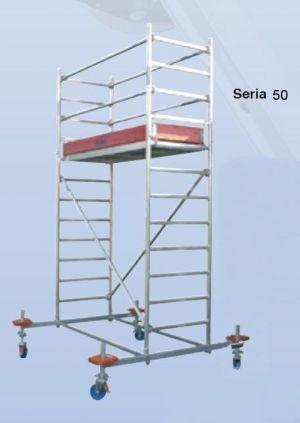 Rusztowanie jezdne seria 50, 2,5x1,5m Krause 8.4m robocza 745255