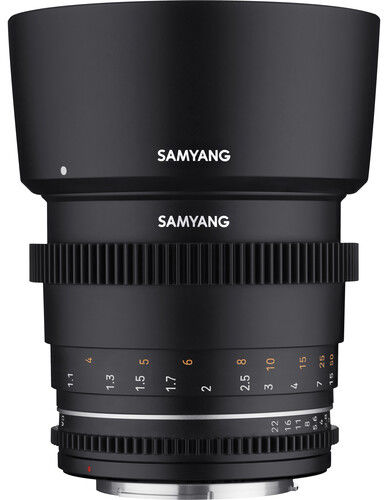 Samyang 85mm T1.5 VDSLR MK2 - obiektyw stałoogniskowy, Nikon F Samyang 85mm T1.5 VDSLR MK2, Nikon F