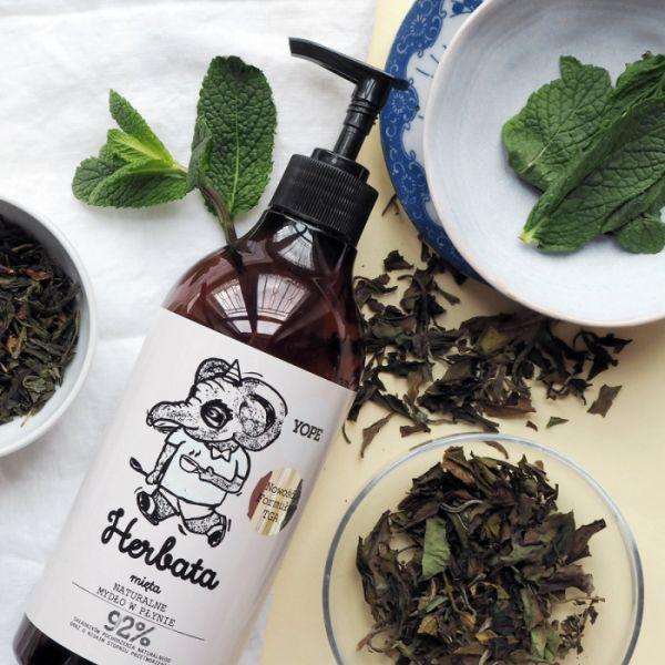 Herbata i Mięta Mydło do Rąk z Formułą TGA, Yope