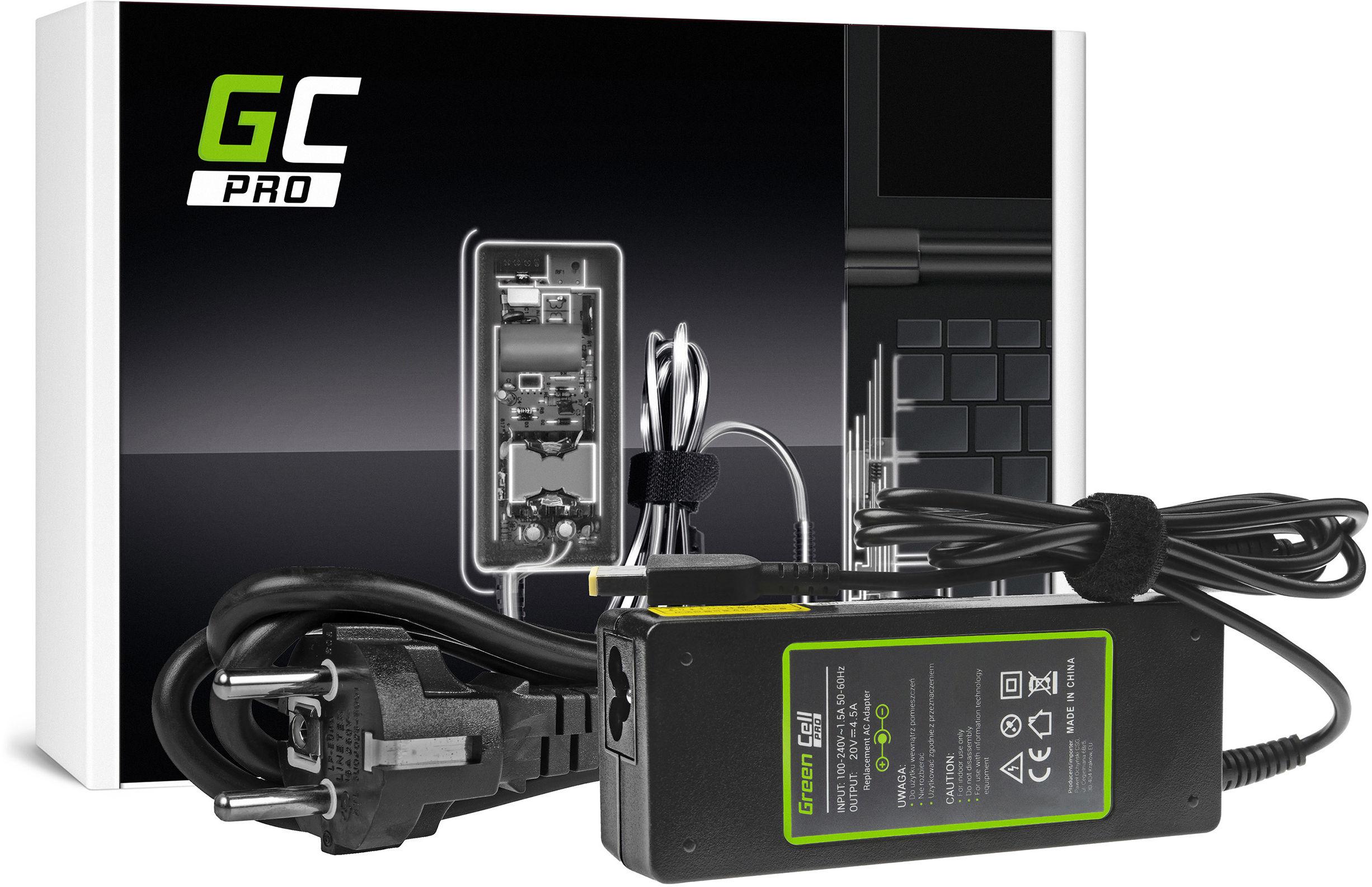 Zasilacz Ładowarka Green Cell PRO 20V 4.5A 90W do Lenovo G500s G505s G510 G510s Z500 Z510 Z710 Z51 Z51-70 ThinkPad X1 Carbon