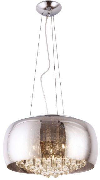 Maxlight Moonlight P0076-06X lampa wisząca grey lustrzany klosz szklane sople 6x40W G9 50cm
