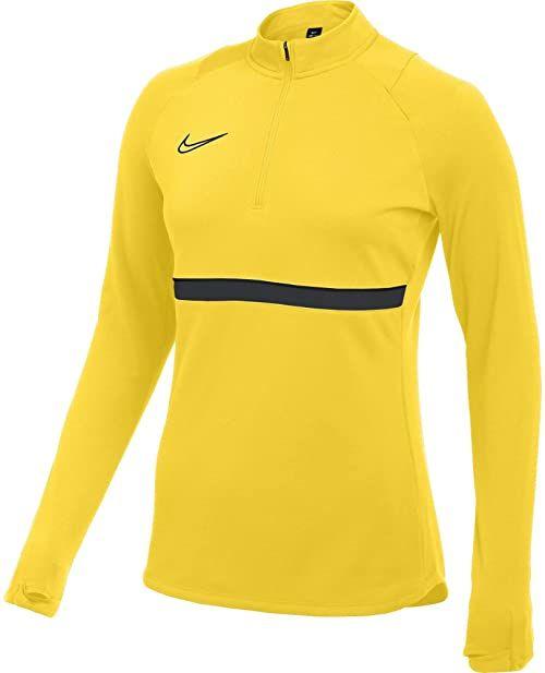 Nike Damska bluza treningowa Academy 21 Drill Top Tour żółty/czarny/antracytowy/czarny S