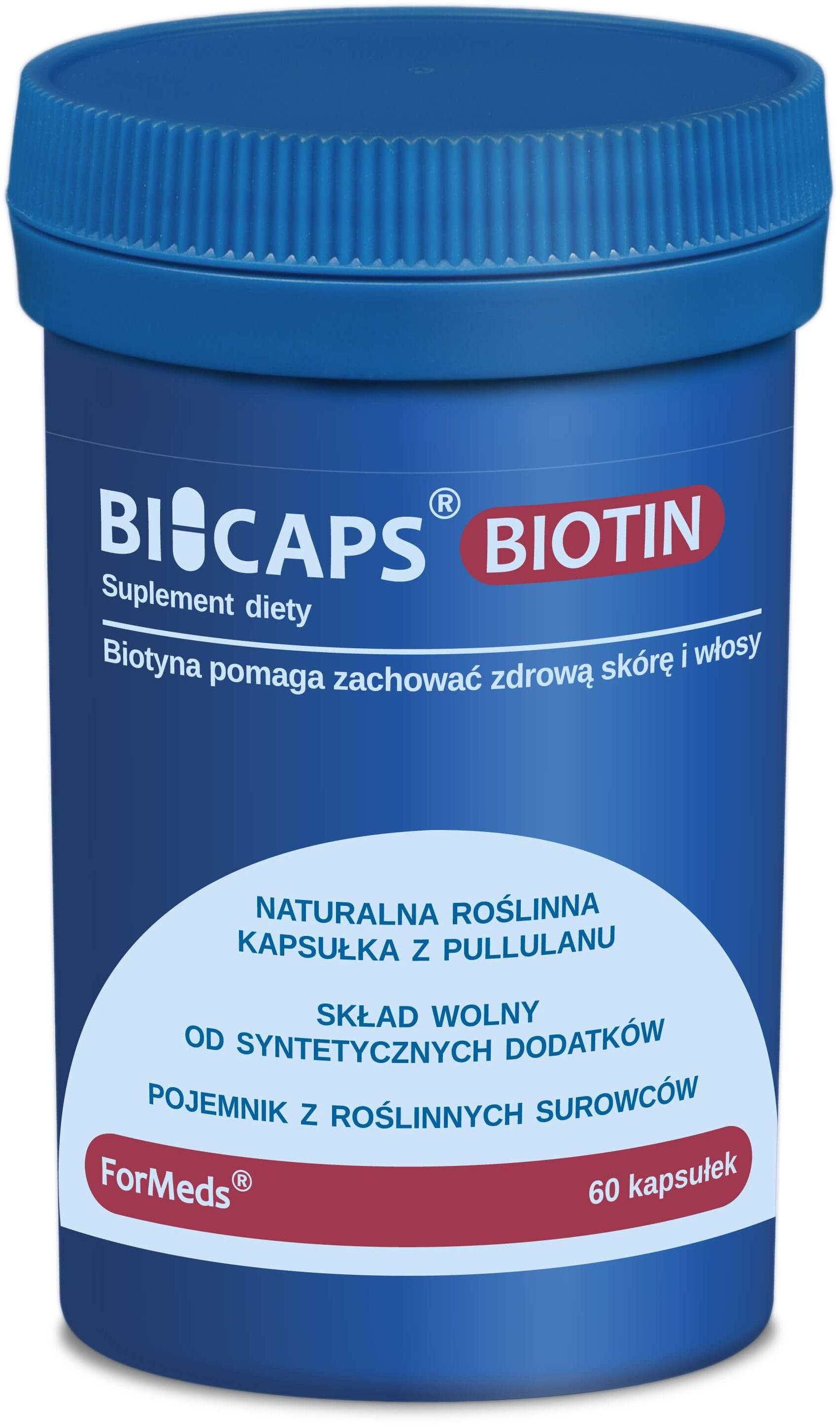 ForMeds Bicaps Biotin (Zdrowa skóra i włosy) 60 Kapsułek roślinnych