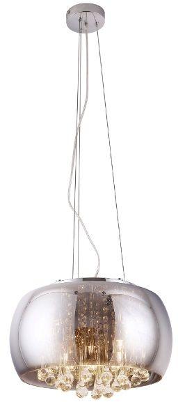 Maxlight Moonlight P0076-05L lampa wisząca grey lustrzany klosz szklane sople 5x40W G9 40cm