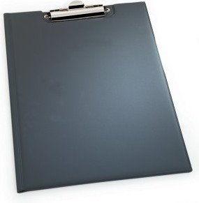 Podkładka pod dokumenty z klipsem i okładką PCV czarna A5 2359 01