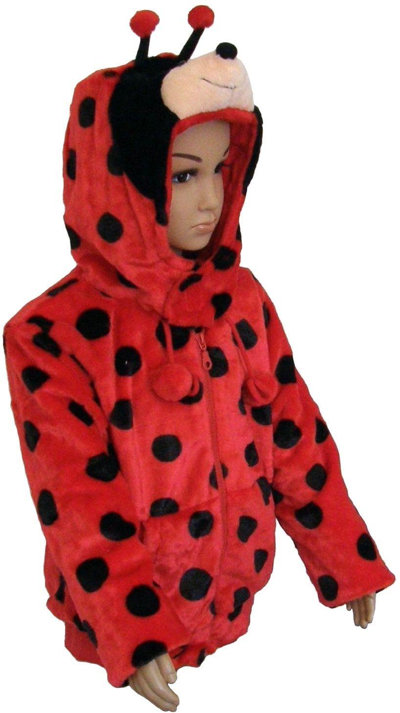 """Sunny Toys 32471 - pluszowa kurtka dziecięca """"biedronka"""" rozmiar 116-128"""
