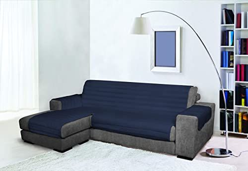 Trendy Wodoodporna i podwójna pokrywa na sofę, ciemnoniebieska 240 cm, 100% mikrofibra