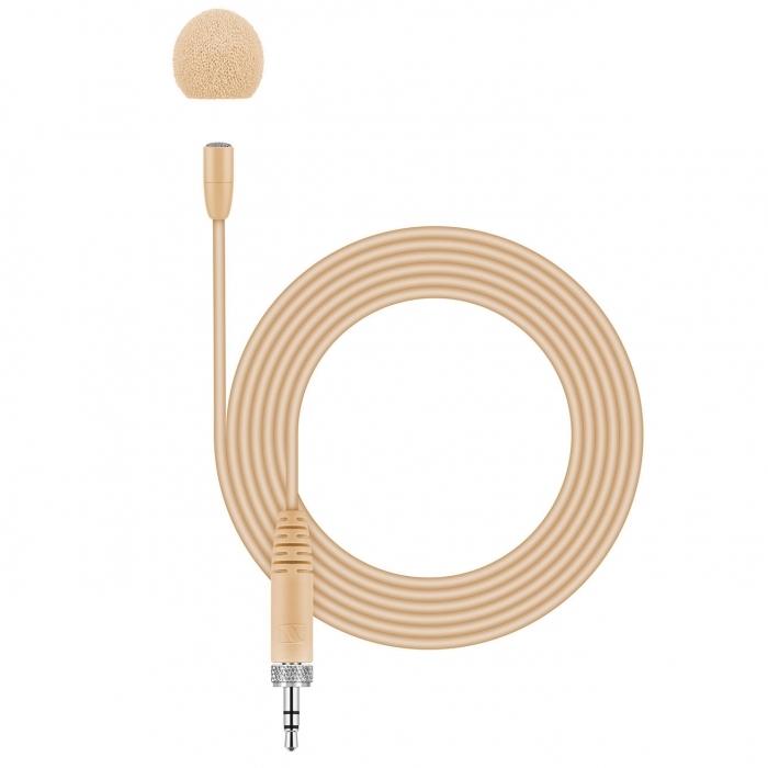 Sennheiser MKE Essential Omni - mikrofon pojemnościowy lavalier, krawatowy, beżowy Sennheiser MKE Essential Omni