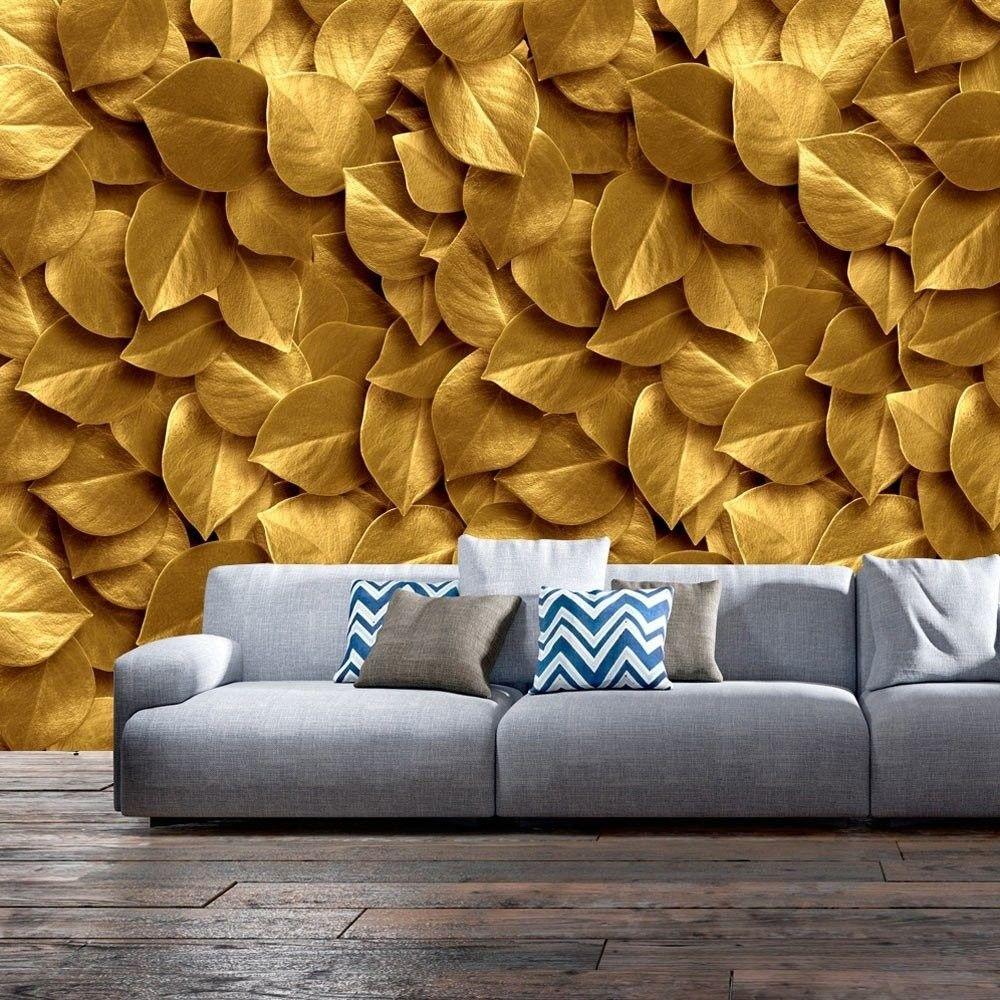Fototapeta - złote liście