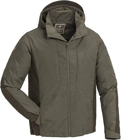 Pinewood Tiveden TC kurtka męska, ciemnooliwkowy/zamszowy, 3XL