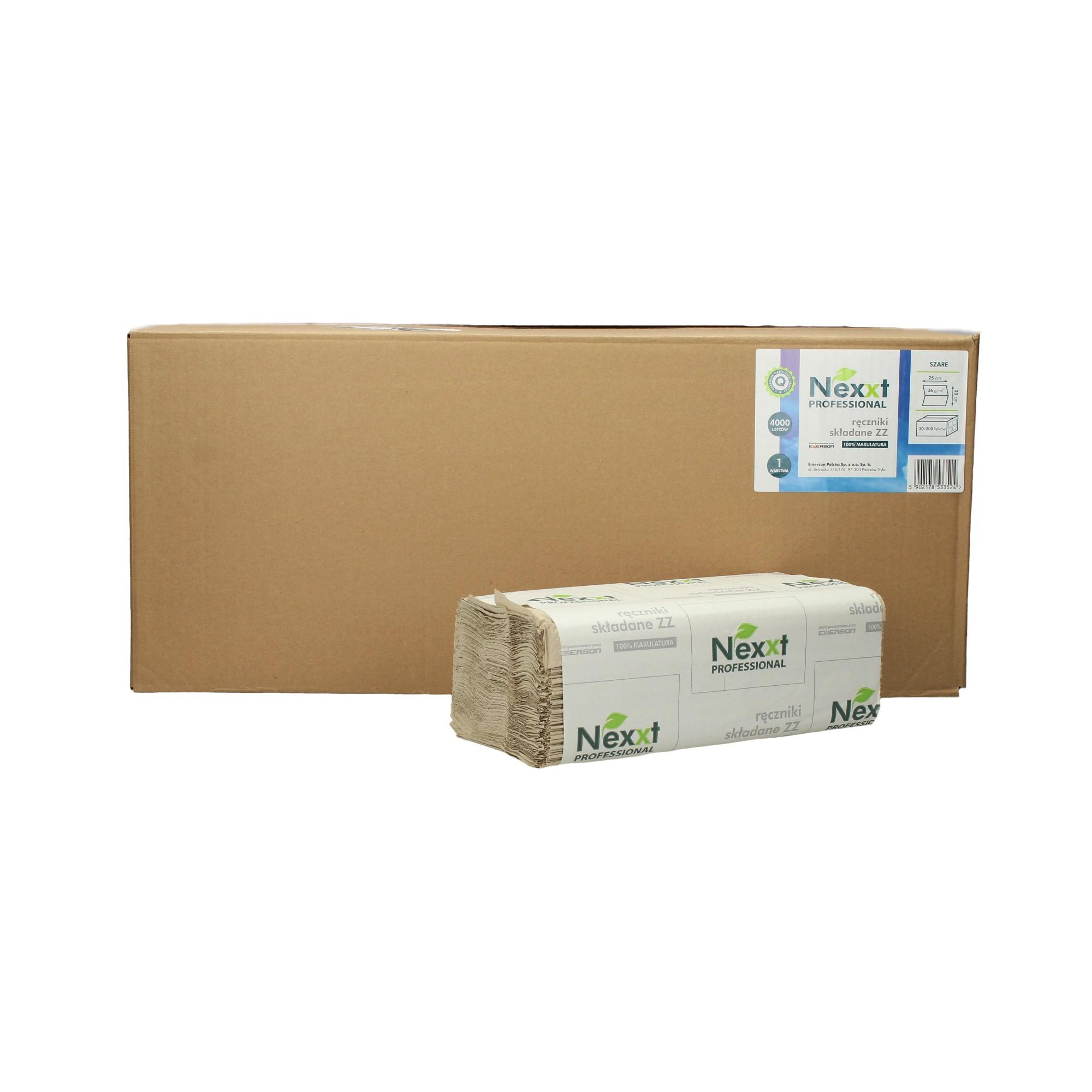 Ręcznik papierowy składka 1w szary Nexxt (4000)