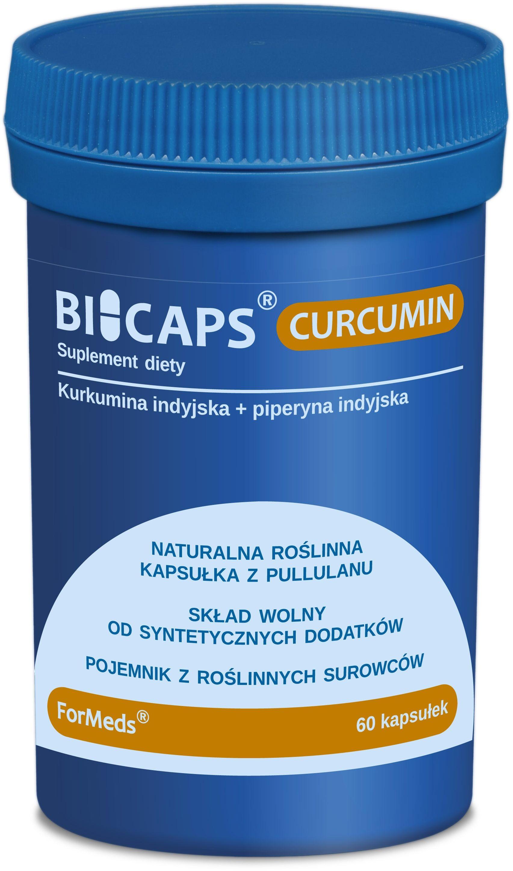 ForMeds Bicaps Curcumin (Kurkumina + Piperyna) 60 Kapsułek roślinnych