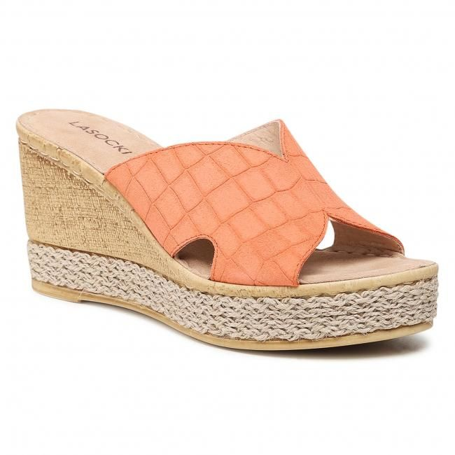 Espadryle LASOCKI - S044 Dark Orange