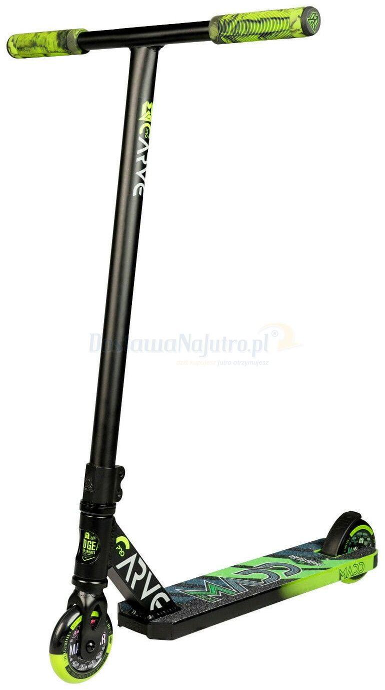 Hulajnoga wyczynowa Stunt Carve Pro-X MGP Madd Gear zielono-czarna