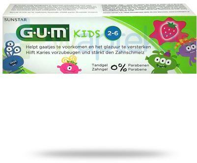 GUM Kids Monster Strawberry pasta do zębów dla dzieci 2-6+ 50 ml