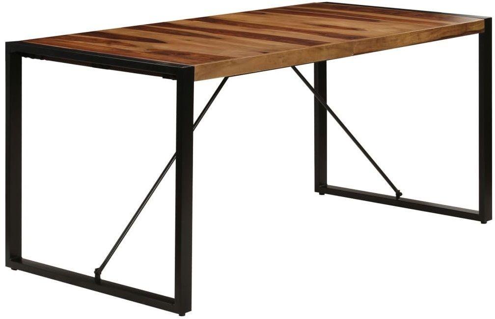 Brązowy stół z sheesham 80x160  Veriz 4X